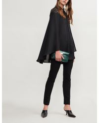 Elie Saab - Cape-panel Silk And Lace Shirt - Lyst