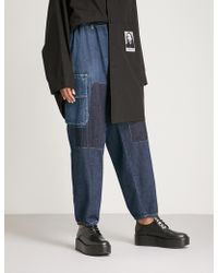 Yohji Yamamoto - Patchwork Relaxed-fit Tapered Jeans - Lyst