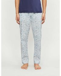 Zimmerli Floral-print Cotton Pyjama Bottoms - Blue