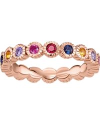 Thomas Sabo - Royalty Multi-stone 18ct Rose Gold-plated Ring - Lyst