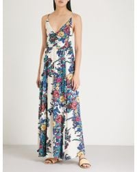 Free People - Through The Vine Floral-print Woven Dress - Lyst