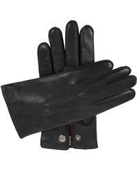 Dents Burford Cashmere-lined Leather Gloves - Black