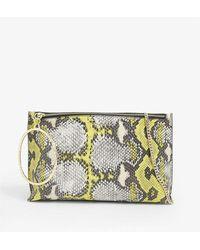 Ted Baker Ingaah Bracelet Handles Leather Clutch Bag - Multicolour