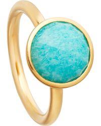 Astley Clarke - Stilla 18ct Yellow-gold Plated Amazonite Ring - Lyst