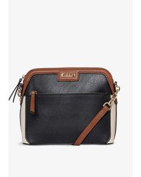 Dune Dollar Faux-leather Cross-body Bag - Black