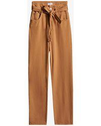 Claudie Pierlot Palme High-rise Straight-leg Cotton Jeans - Brown