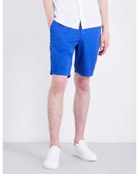 Stemar - Leisure Regular-fit Stretch-cotton Shorts - Lyst