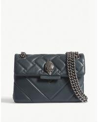 Kurt Geiger - Ladies Teal Blue Mini Kensington X Shoulder Bag - Lyst