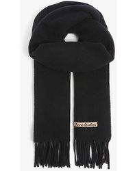 Acne Studios Canada New Logo-embroidered Wool Scarf - Black