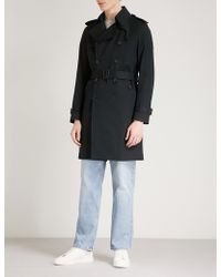 Sandro - Belted Cotton Mac - Lyst