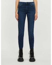 Emporio Armani J20 Skinny Mid-rise Jeans - Blue