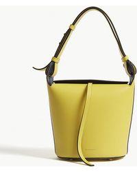 Burberry - Ladies Yellow Modern Leather Bucket Bag - Lyst