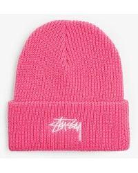 Stussy Basic Cuff Beanie Hat - Pink