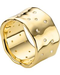 Monica Vinader | Siren Scatter 18ct-gold Plated Ring | Lyst
