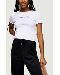 TOPSHOP Tall One Of A Kind T-shirt - White