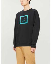 Acne Studios Forba Face-print Cotton-jersey Sweatshirt - Black