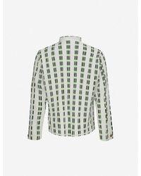 Homme Plissé Issey Miyake Striped Mandarin-collar Woven Shirt - Green