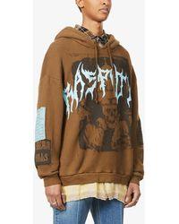 Siberia Hills Rasputin Graphic-print Cotton-jersey Hoody - Brown