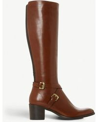 Dune Black - Torney Knee-high Leather Boots - Lyst