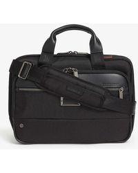 Briggs & Riley Small Expandable Ballistic Nylon Briefcase - Black