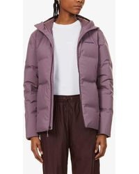 Patagonia Jackson Glacier Hooded Shell-down Jacket - Purple