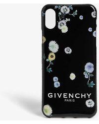 Givenchy Floral Print Phone Case - Black