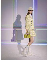 Dior Check'n'-pattern Wool Mini Skirt - Multicolour