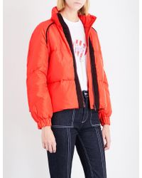 Ganni Fountain Shell Puffer Jacket - Red