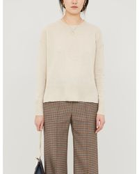 The White Company Boxy-fit Cashmere Jumper - Natural