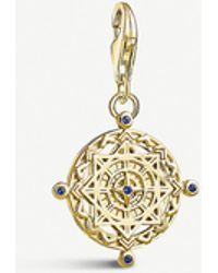 Thomas Sabo Compass 18ct Yellow Gold-plated Charm - Metallic