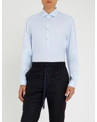 Gucci - Half-buttoned Relaxed-fit Cotton Shirt - Lyst