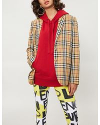 Burberry - Checked Wool Jacket - Lyst