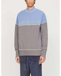 Aimé Leon Dore Logo-print Cotton-jersey Sweatshirt - Blue