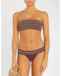Tigerlily - Fidelia Bandeau Bikini Top - Lyst