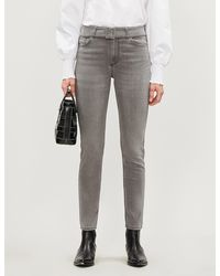 Claudie Pierlot Passion Skinny High-rise Jeans - Gray