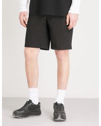 Givenchy - Leather Badge Cotton-blend Shorts - Lyst
