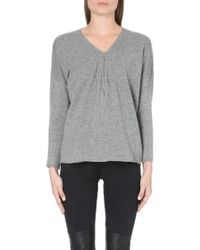 The Kooples Sport | Wool And Cashmere Jumper With Zip Neck | Lyst