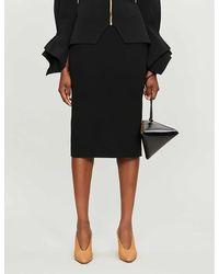 Roland Mouret Arreton Wool Midi Skirt - Black
