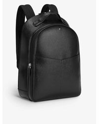 Montblanc Sartorial Small Two-compartment Leather Backpack - Black