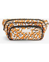 Ted Baker Niqila Leopard-print Puffer Belt Bag - Yellow