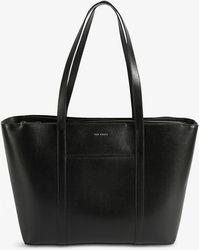 Ted Baker - Kimiaa Bar-detail Saffiano Leather Tote Bag - Lyst