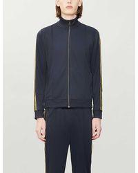 HUGO Stripe-detail Woven Tracksuit Jacket - Blue