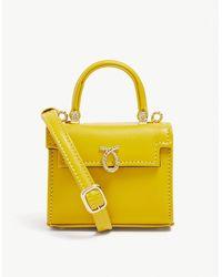 Launer Picollo Mini Leather Top Handle Bag - Yellow