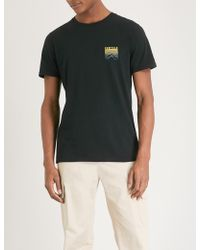 Penfield Caputo Cotton-jersey T-shirt - Black
