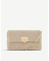 Dune Evanderr Metallic Clutch Bag