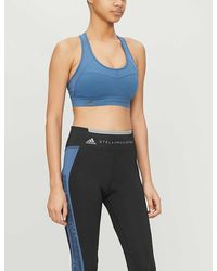 adidas By Stella McCartney Performance Essentials Stretch-jersey Sports Bra - Blue