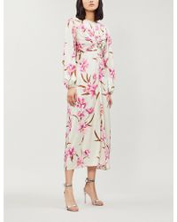 Zimmermann - Corsage Floral Print Midi Dress - Lyst