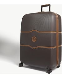 Delsey Chatelet Hard Four-wheel Suitcase 77cm - Brown