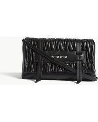 Miu Miu - Matelassé Quilted Leather Cross-body Bag - Lyst