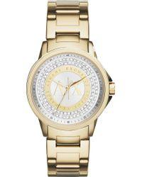 Armani Exchange - Lady Banks Gold Tone Women's Watch - Lyst